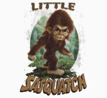 Little Sasquatch Art for Kids One Piece - Short Sleeve