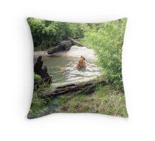 Tiger Bath Throw Pillow