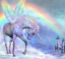 Unicorn Of The Rainbow by Carol  Cavalaris