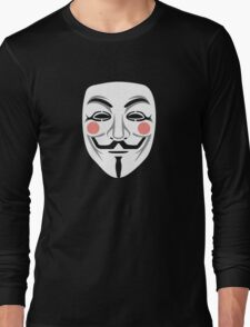 Anonymous/Guy Fawkes mask Long Sleeve T-Shirt