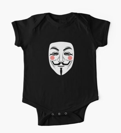 Anonymous/Guy Fawkes mask One Piece - Short Sleeve