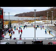 Village Center Ice Skating Ring - Port Jefferson, New York  by © Sophie W. Smith