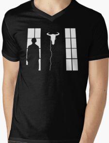 Bored silhouette Mens V-Neck T-Shirt