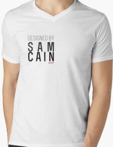 designed by sam cain Mens V-Neck T-Shirt