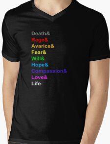 Power Rings Mens V-Neck T-Shirt