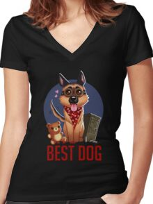 Best Dog Women's Fitted V-Neck T-Shirt