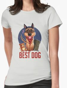 Best Dog Womens Fitted T-Shirt