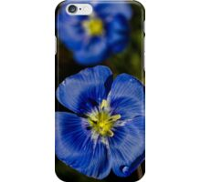 Blue Flax 3 iPhone Case/Skin