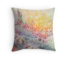Mystery of the Flowers Throw Pillow