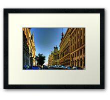 Calle de Alcalá, Madrid Framed Print