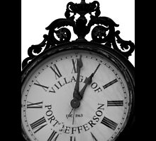 Vintage Wrought Iron Street Clock - Village Of Port Jefferson, New York by © Sophie W. Smith