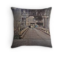 andrew scott bridge antique Throw Pillow