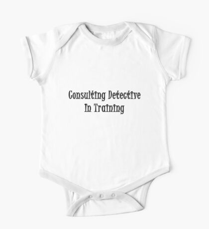 Consulting Detective In Training- Black One Piece - Short Sleeve