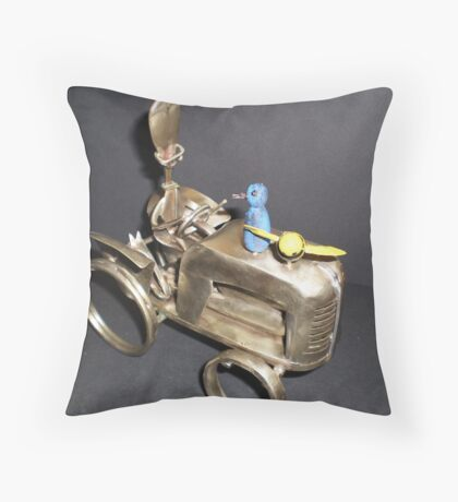1950's Maitland Farmer & His Dog BC 96313 Throw Pillow