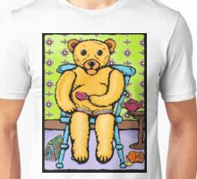 teddy and a good book. Unisex T-Shirt