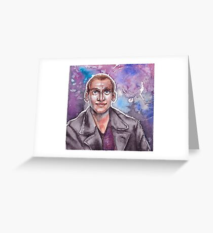 9th Doctor Watercolor Greeting Card