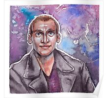 9th Doctor Watercolor Poster