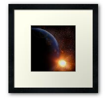 It's not really space.. Framed Print
