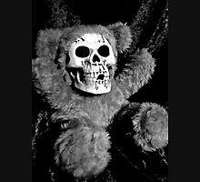 Skull Faced Teddy Bear Men's Baseball ¾ T-Shirt