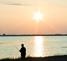 Sunrise Fisher by Peter Shugart