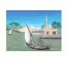 Nile Scene Art Print