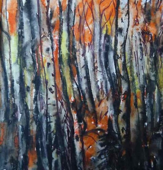 Birch and maple Fall forest by billimaus
