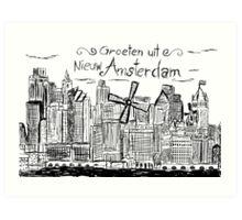 Nieuw Amsterdam Art Print
