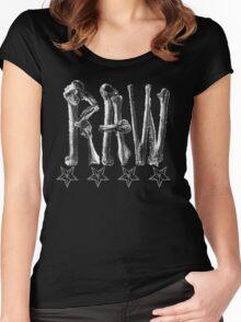 RAW**** x BONES Women's Fitted Scoop T-Shirt
