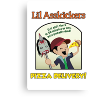 Lil Asskickers Pizza Delivery Canvas Print