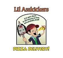 Lil Asskickers Pizza Delivery Photographic Print