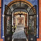 Doorway in Antigua Hotel by Jeanne Frasse