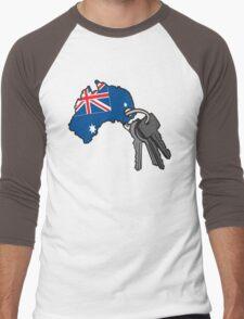 Keys to Australia  Men's Baseball ¾ T-Shirt
