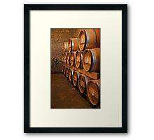 Sixteen Barrels Framed Print