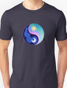 Celestia/Luna Yin Yang Subtle Brony Symbol T-Shirt