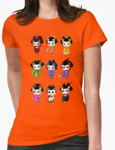 Chibi Geisha Womens Fitted T-Shirt