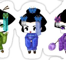 Chibi Geisha Sticker