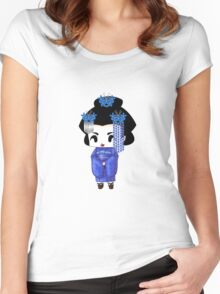 Chibi Lady Ao Women's Fitted Scoop T-Shirt