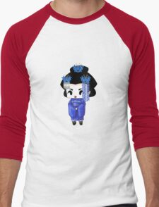 Chibi Lady Ao Men's Baseball ¾ T-Shirt