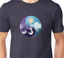 Celestia/Luna Sky and Clouds Yin Yang - Subtle Brony Unisex T-Shirt