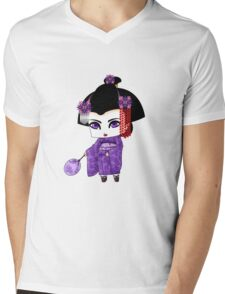 Chibi Lady Murasaki Mens V-Neck T-Shirt