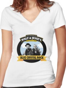 WALT AND JESSE'S Women's Fitted V-Neck T-Shirt