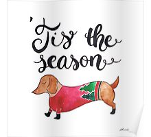 'Tis the Season for Christmas and Dog Lovers Poster
