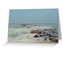 Jetty - Island Beach State Park NJ Greeting Card