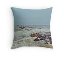 Jetty - Island Beach State Park NJ Throw Pillow