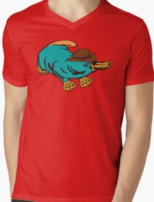 Real Life Perry the Platypus Mens V-Neck T-Shirt