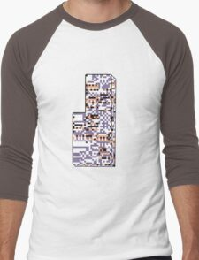 Missingno. Men's Baseball ¾ T-Shirt