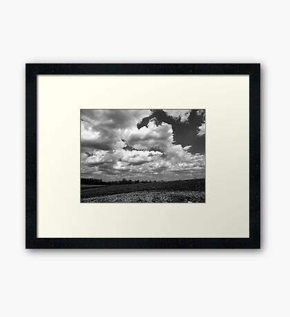 The sky speaks volumes Framed Print