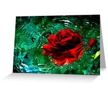 Rosey Splash Greeting Card