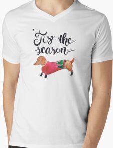 'Tis the Season for Christmas and Dog Lovers Mens V-Neck T-Shirt