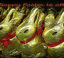 Easter Bunnies - greeting Card  by EdsMum